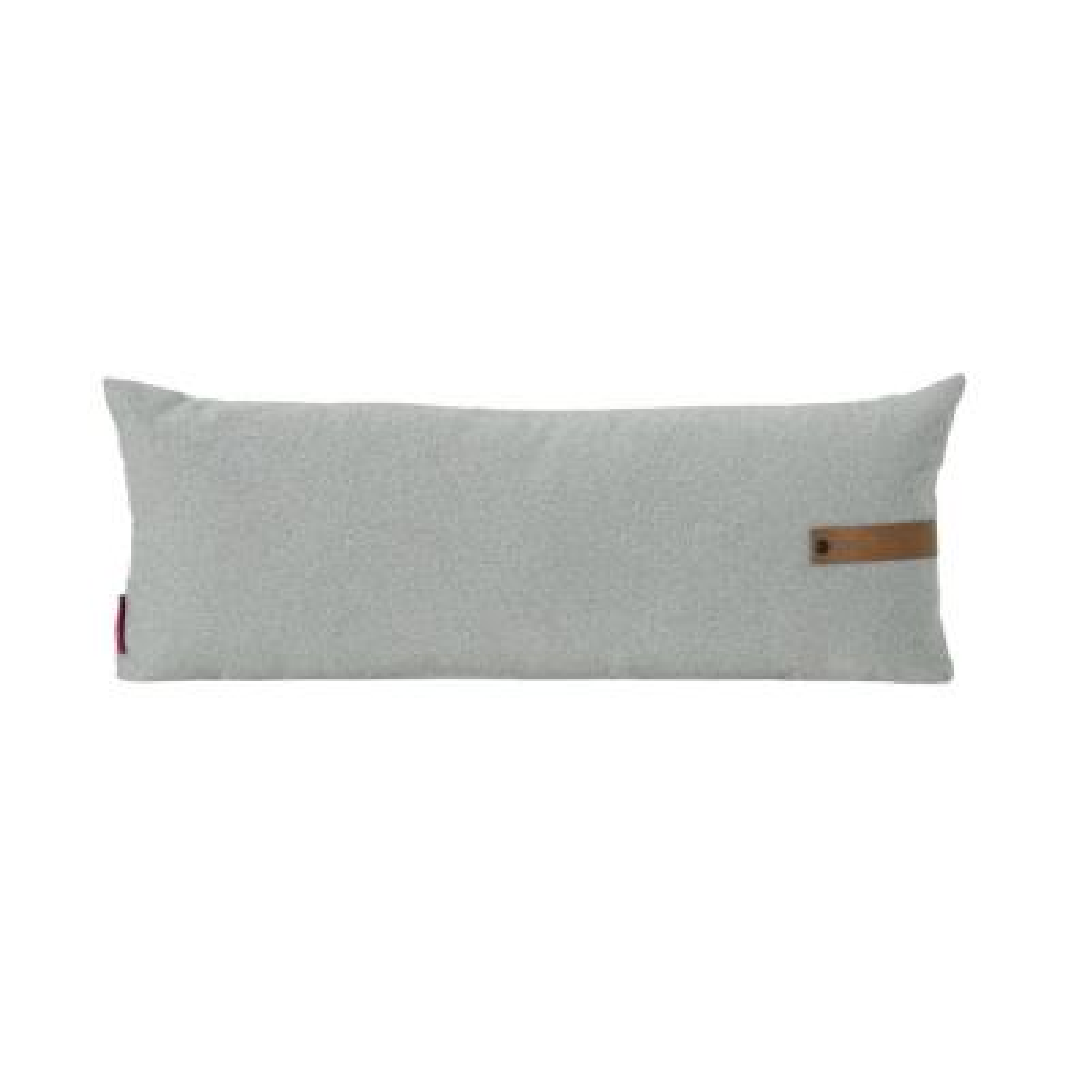 Edinburgh Mid-Century Modern 30 in. Rectangular Gray Polyester Fiberfill Pillow