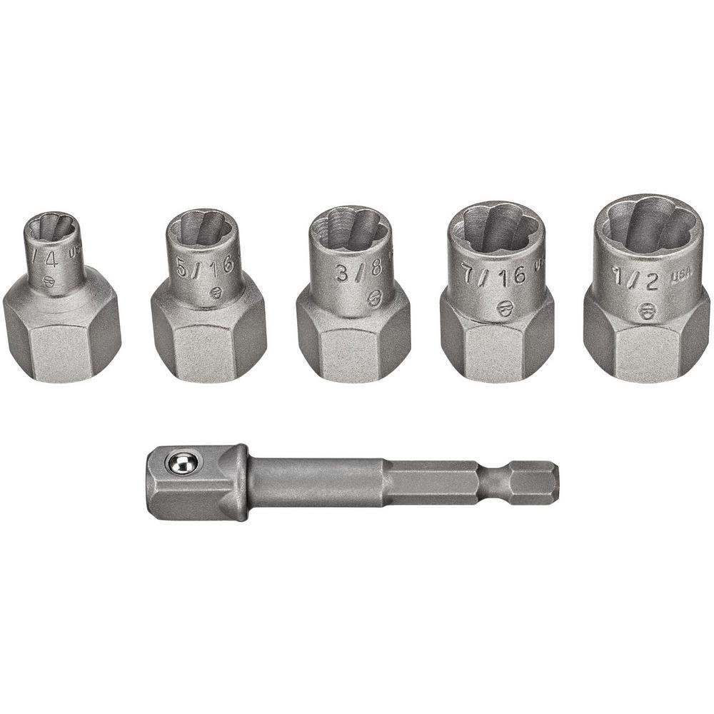 Dewalt Max Impact Steel Extractor Set 5 Piece