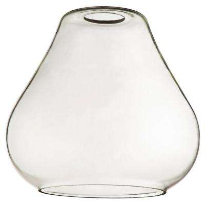 7 in. Clear Glass Open Teardrop Shade with 2-1/4 in. Fitter and 7-1/2 in. Width