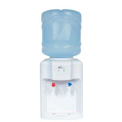Hot and Cold Tabletop Water Dispenser in White