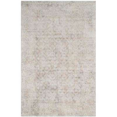 Mirage Ivory/Silver 9 ft. x 12 ft. Area Rug
