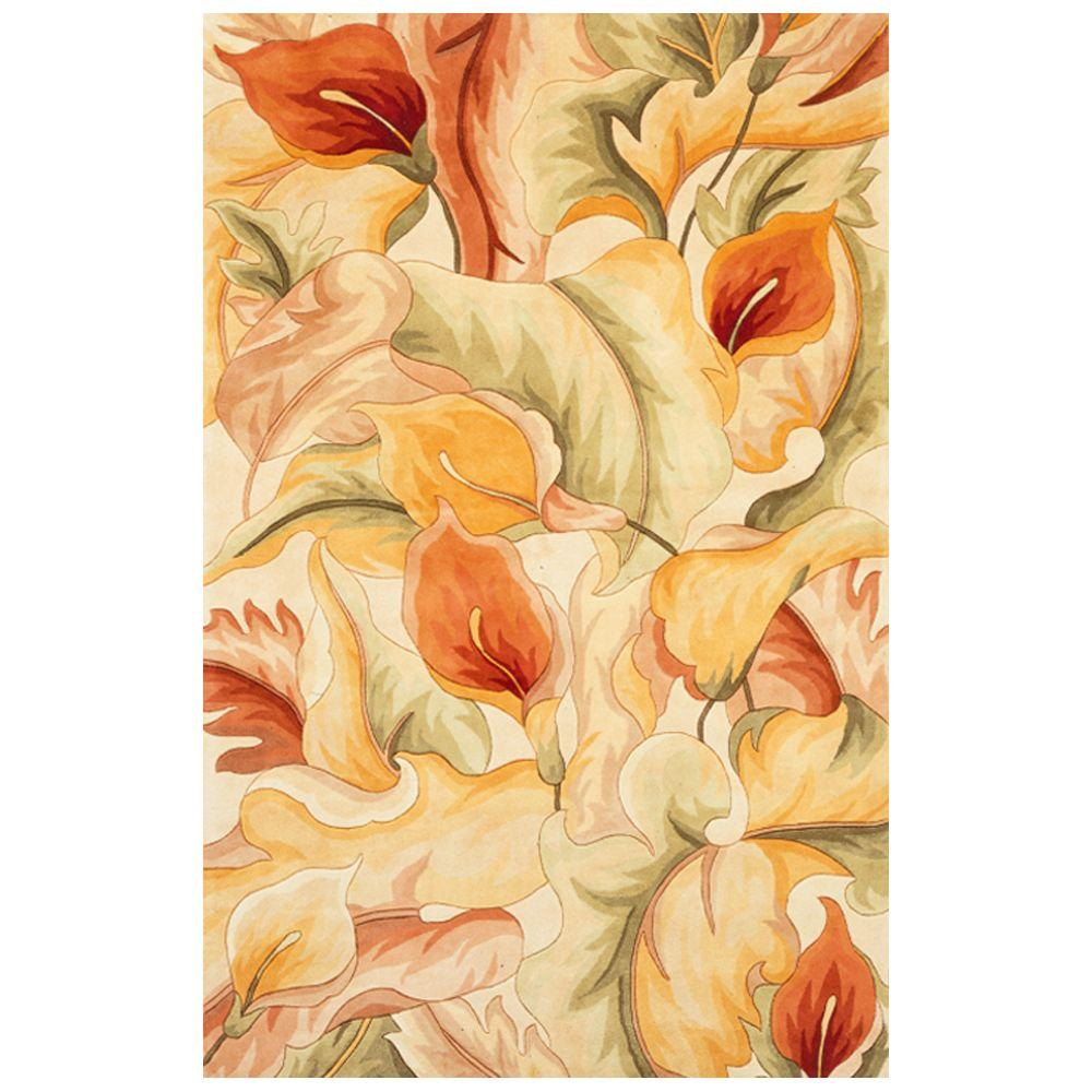 Kas Rugs Exotic Lily Ivory 3 ft. 3 in. x 5 ft. 3 in. Area Rug