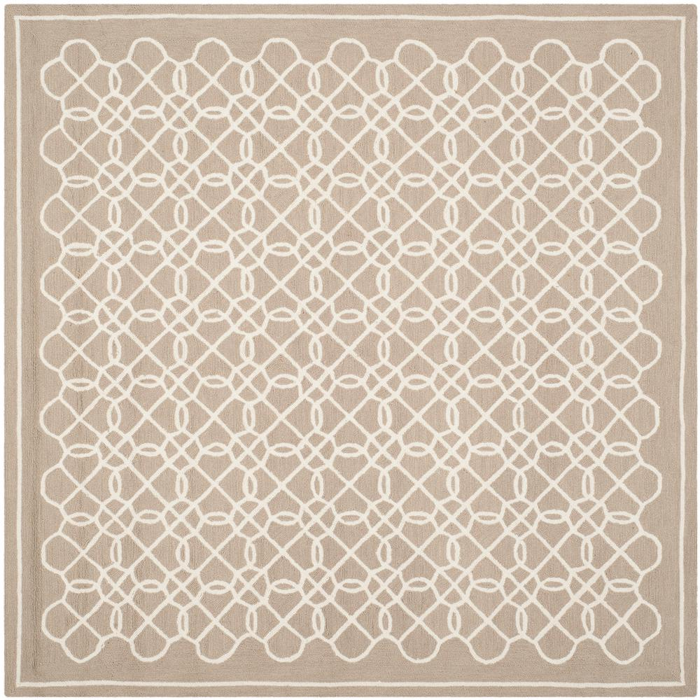 Chelsea Tan/Ivory 8 ft. x 8 ft. Square Area Rug