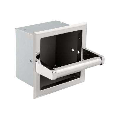 Recessed Extra Roll Toilet Paper Holder in Bright Stainless