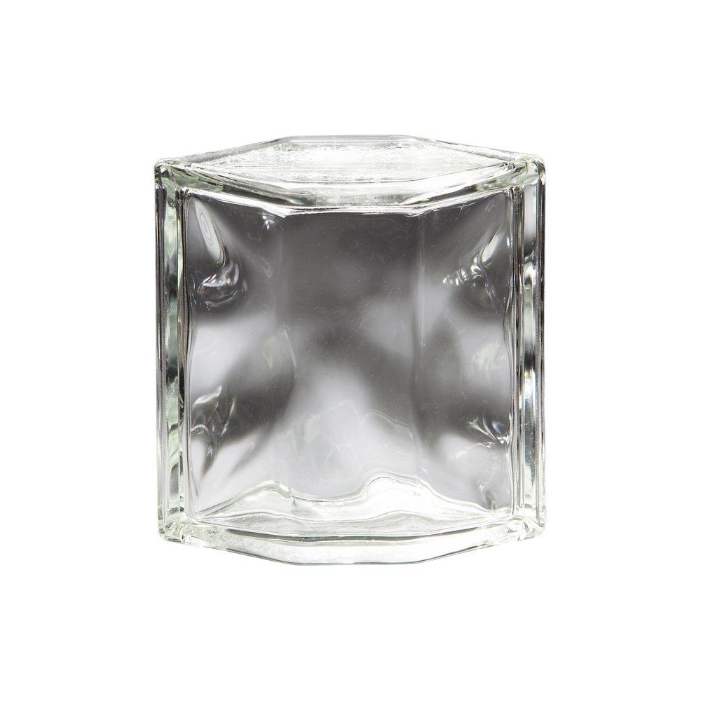 pittsburgh corning decora 6 in x 8 in x 4 in hedron glass block 120195 the home depot - Glass Blocks Lowes