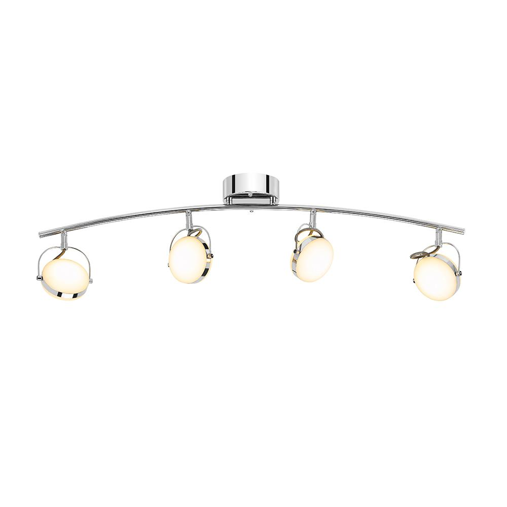 Chrome And Black Track Lighting: EGLO Bellamonte 2 Ft. Brushed Aluminum And Black Track