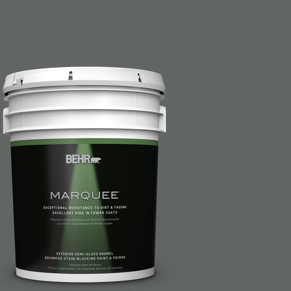 5 gal. #PPU25-02 Black Locust Semi-Gloss Enamel Exterior Paint