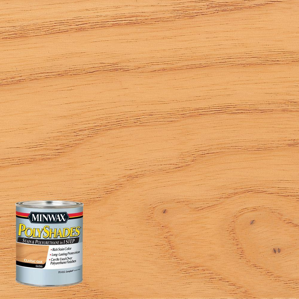 8 oz. PolyShades Classic Oak Gloss 1-Step Stain and Polyurethane 275