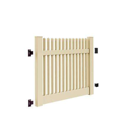 Yukon Straight 5 ft. W x 4 ft. H Sand Vinyl Un-Assembled Fence Gate
