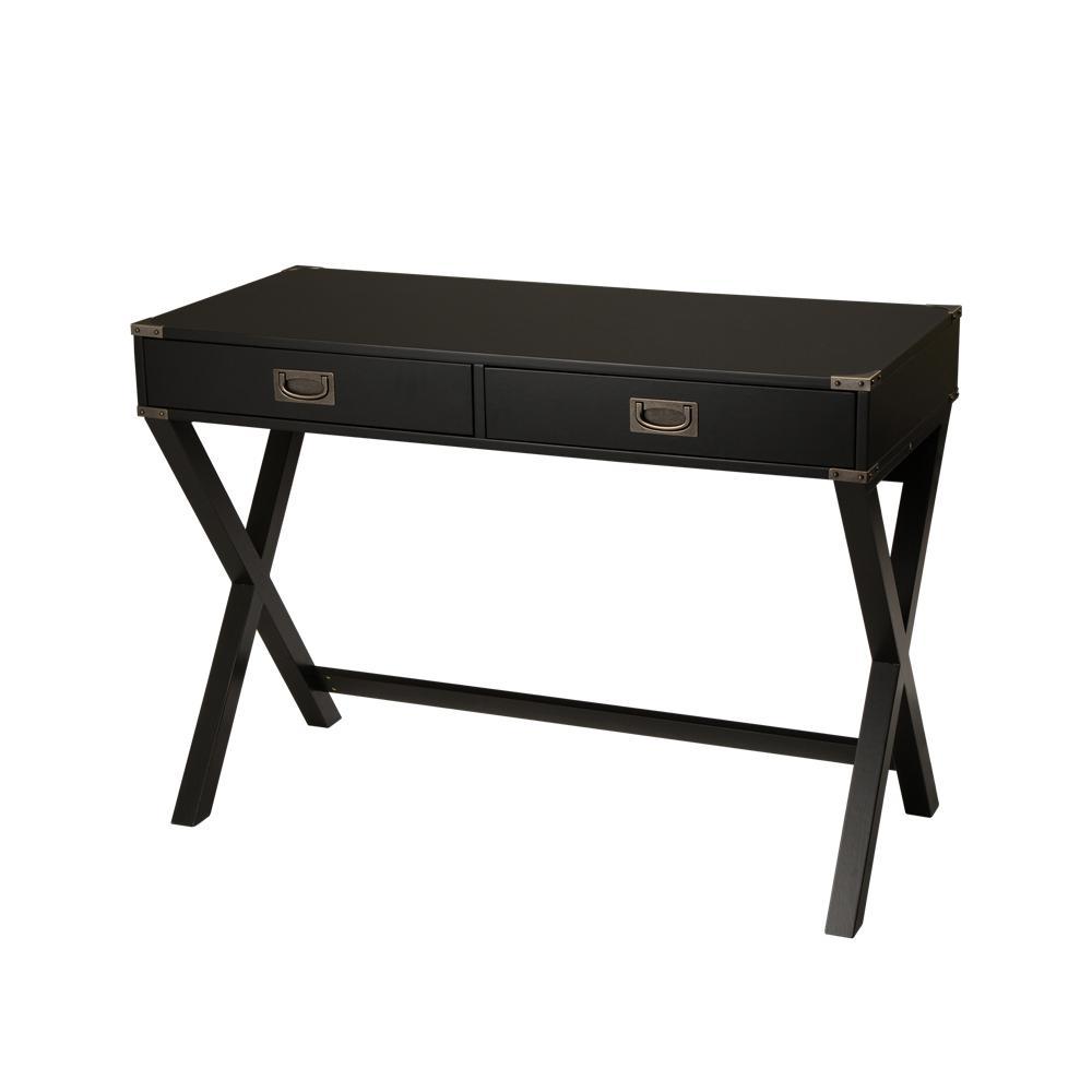 41.73 in. Modern X-Leg 2-Drawer Desk