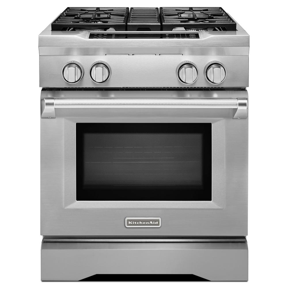Commercial-Style II 4.1 cu. ft. Slide-In Dual-Fuel Range with Self-Cleaning