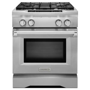 KitchenAid Commercial Style II 4.1 Cu. Ft. Slide In Dual Fuel Range With  Self Cleaning Convection Oven In Stainless Steel KDRS407VSS   The Home Depot