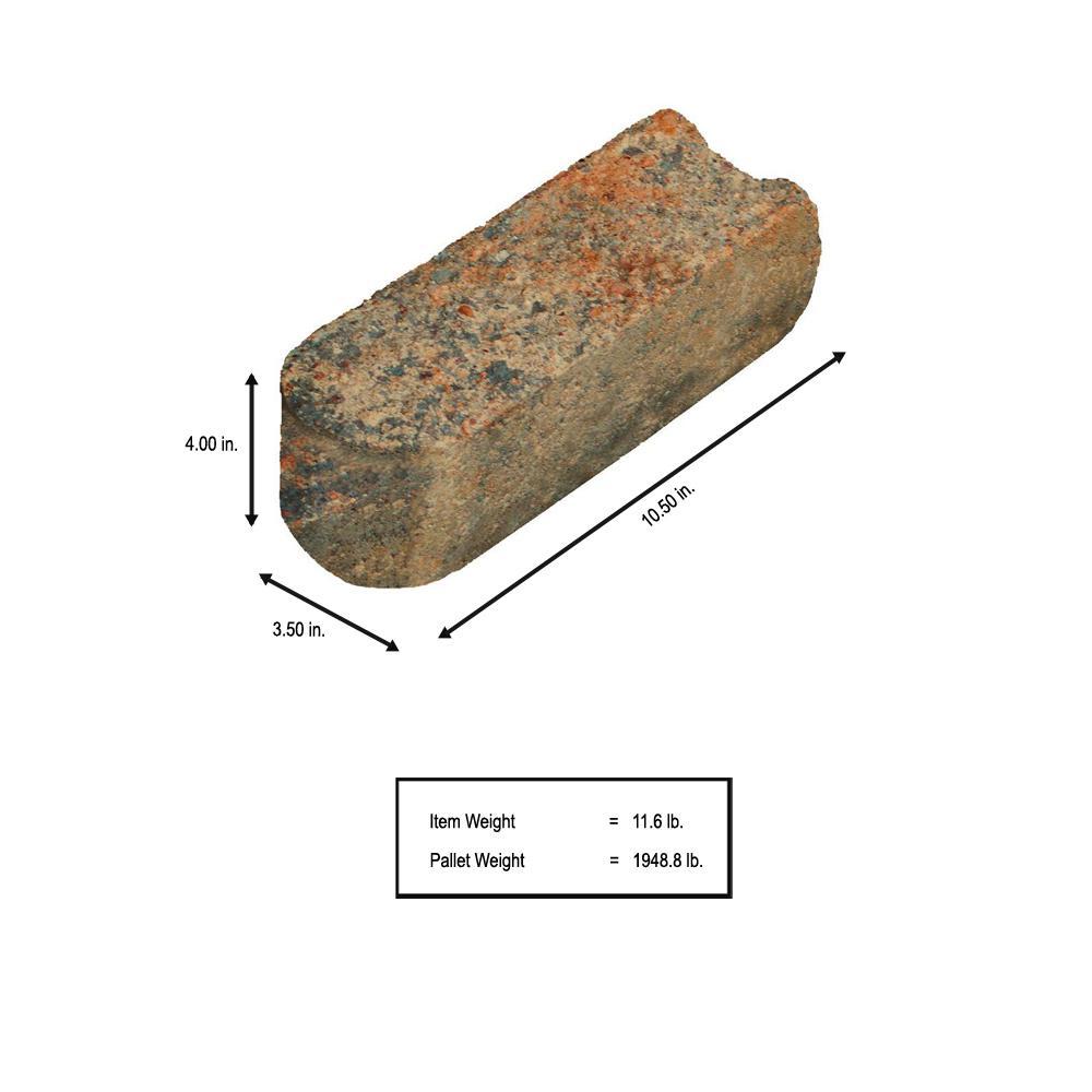 SplitRock 10.5 in. x 3.5 in. x 4 in. Palomino Concrete Edger (168 Pcs. / 147 Lin. ft. / Pallet)
