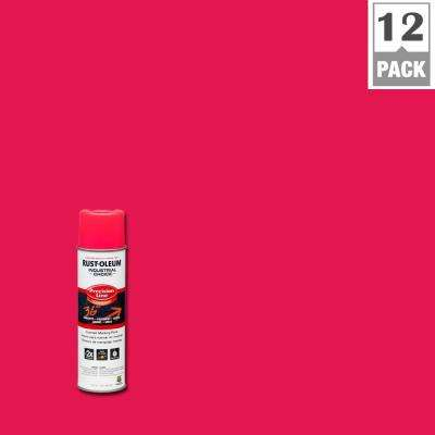 17 oz. M1600 System Precision Line Solvent-Based Fluorescent Pink Inverted Marking Spray Paint (12-Pack)