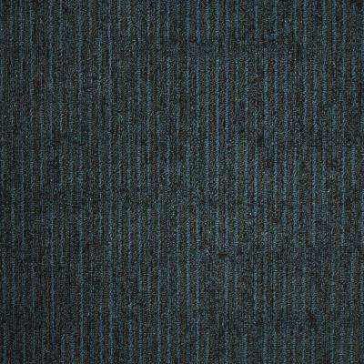 Union Square Blue Pewter Loop 19.7 in. x 19.7 in. Carpet Tile (20 Tiles/Case)
