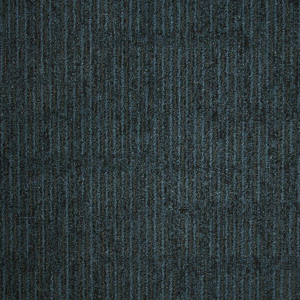 Union Square Blue Pewter Loop 19.7 in. x 19.7 in. Carpet
