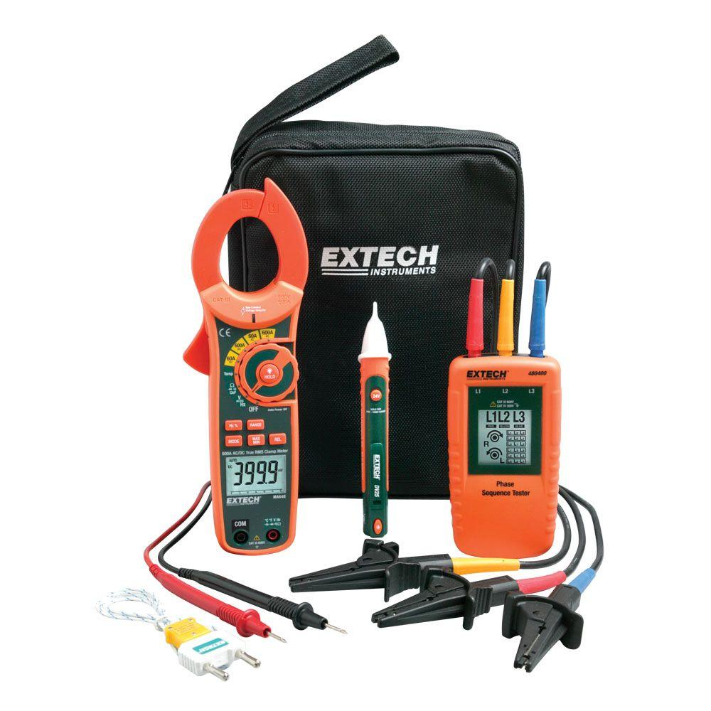 Extech Instruments Phase Rotation/Manual Clamp Meter Kit