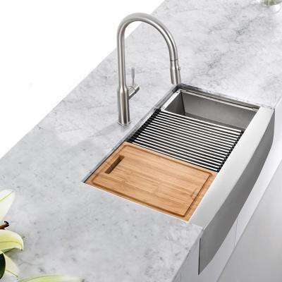 All-In-One Stainless Steel Kitchen Sink Workstation