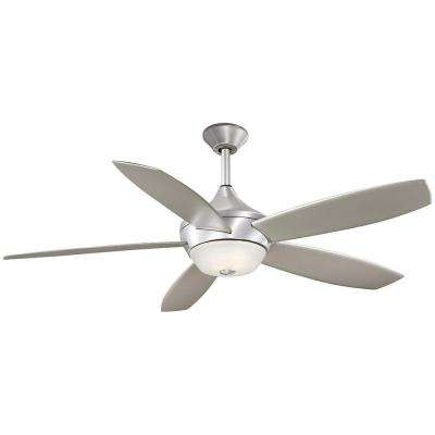 Spring Haven 52 in. Indoor/Outdoor Brushed Aluminum Ceiling Fan
