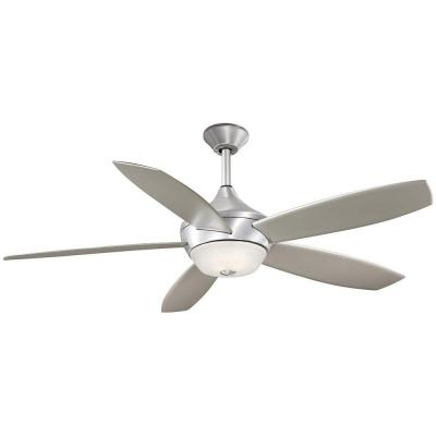 Spring Haven 52 in. Indoor/Outdoor Brushed Aluminum Ceiling Fan with Remote Control
