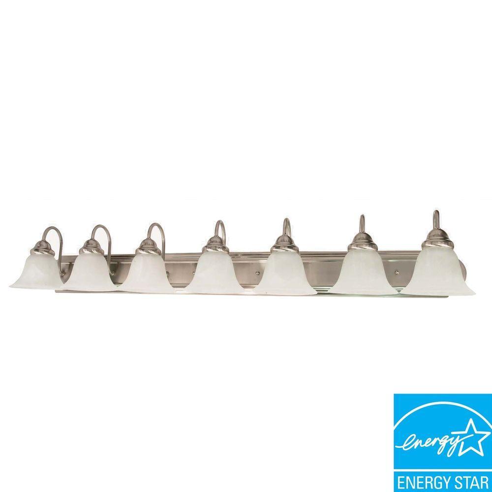 Glomar Sophrosyne 7-Light Brushed Nickel Bath Vanity Light