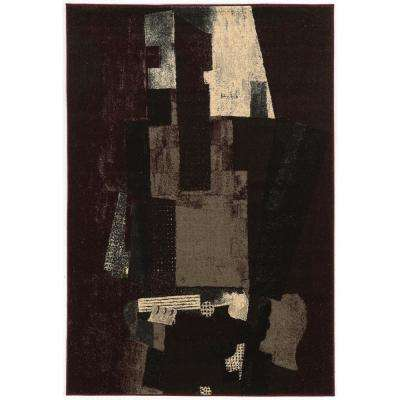 Masters MR12 Museum Multi Black and Burgundy 8 ft. x 10 ft. Area Rug