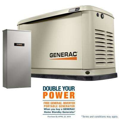 16,000-Watt (LP)/16,000-Watt (NG) Air Cooled Standby Generator with 16 Circuit 100 Amp Automatic Transfer Switch