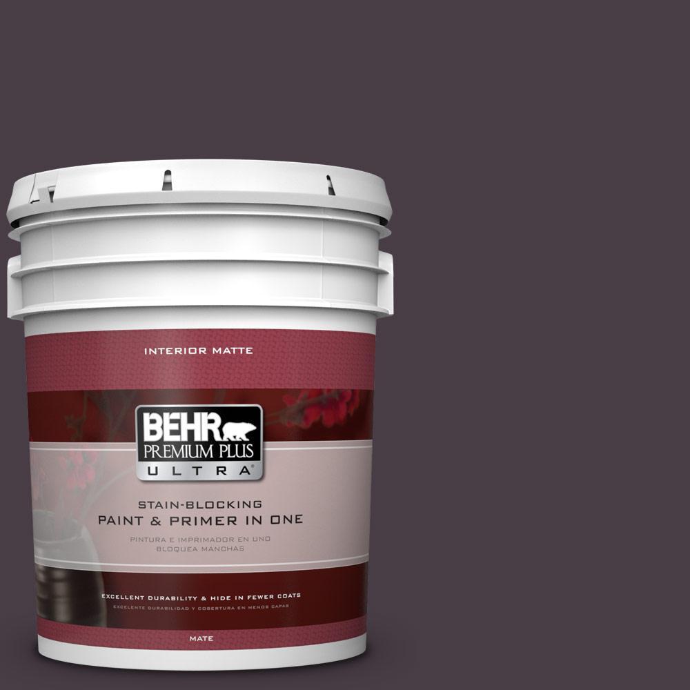 BEHR Premium Plus Ultra 5 gal. #PPU17-20 Eclectic Purple Flat/Matte Interior Paint