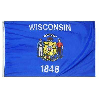 4 ft. x 6 ft. Wisconsin State Flag