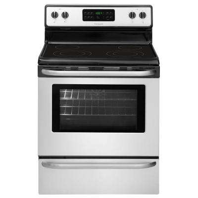 5.4 cu. ft. Electric Range with Self-Cleaning QuickBake Convection Oven in Stainless Steel