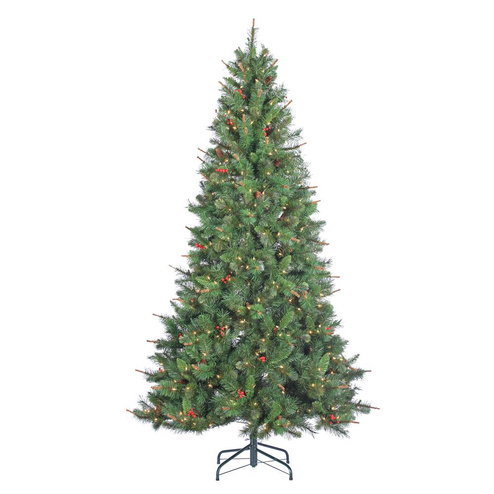 Indoor Pre-Lit Hard Mixed Needle Black Hills Spruce Artificial Christmas Tree with 500 Clear Lights