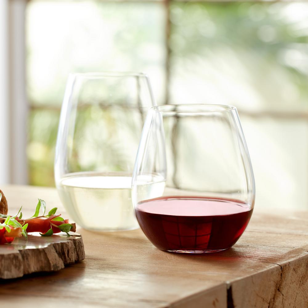 Signature Kentfield 12-piece Stemless Wine Glass Party Set