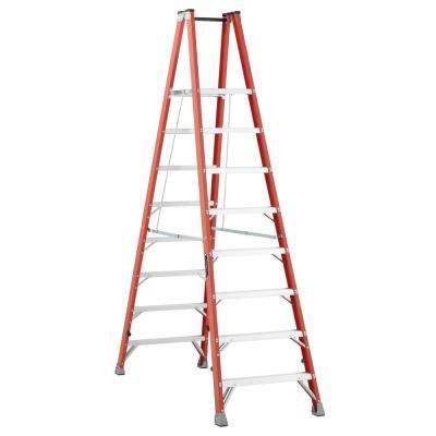 8 ft. Fiberglass Twin Platform Step Ladder with 300 lbs. Load Capacity Type 1A Duty Rating