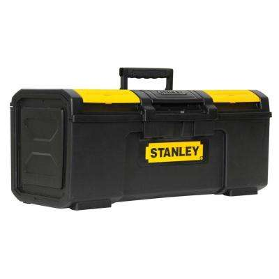 24 in. 1-Touch Latch Tool Box with Lid Organizers