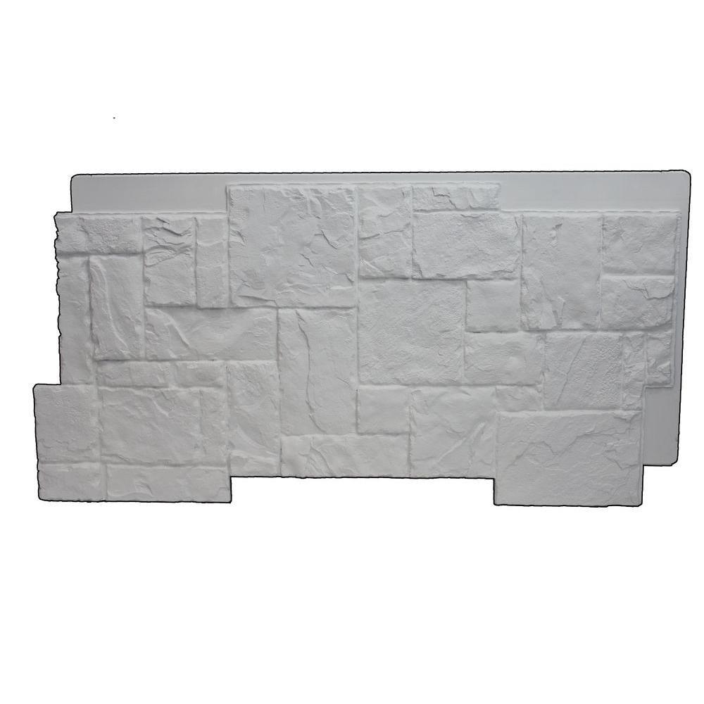 Dove White 24-3/4 in. x 48-3/4 in. x 1-1/4 in. Faux Windsor Stone Panel