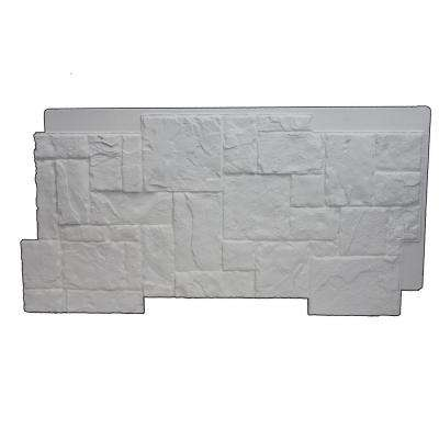 Faux Windsor Stone 24-3/4 in. x 48-3/4 in. x 1-1/4 in. Panel Dove White