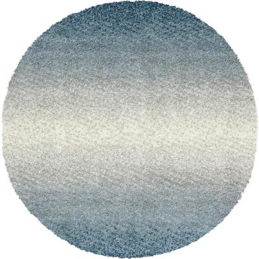Hygge Shag Gradient Blue 5 ft. x 5 ft. Round Rug