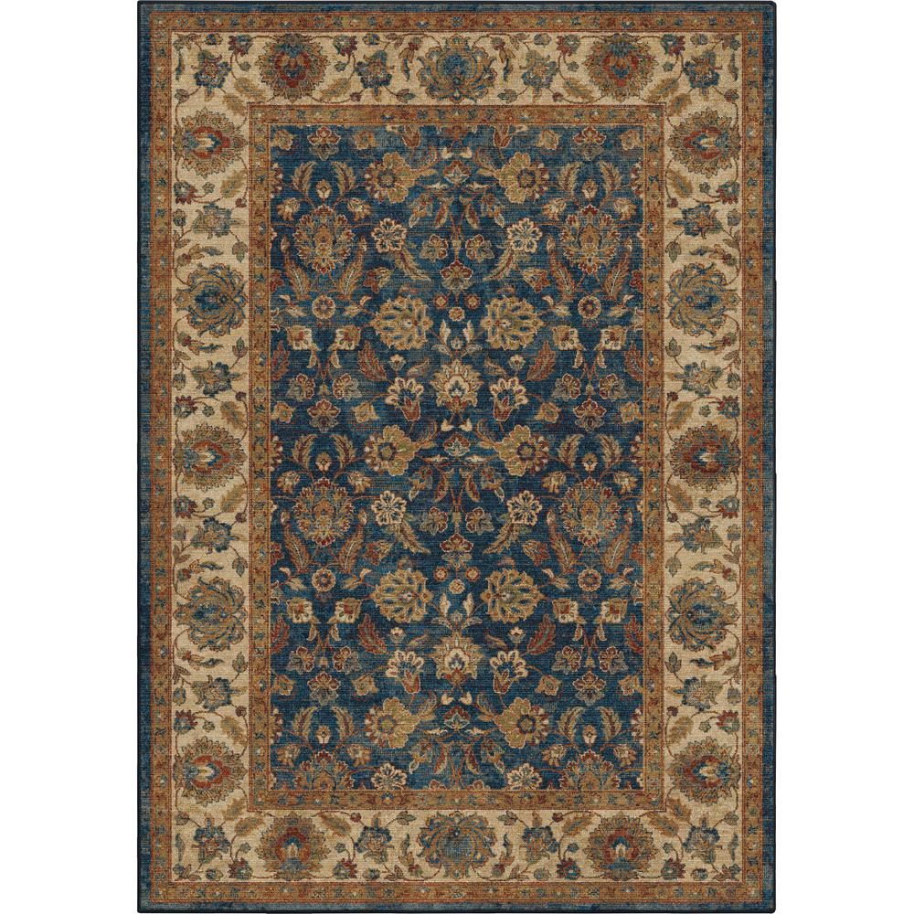 10 By 10 Area Rugs: Orian Rugs Border Entressed Oriental Blue 7 Ft. 10 In. X
