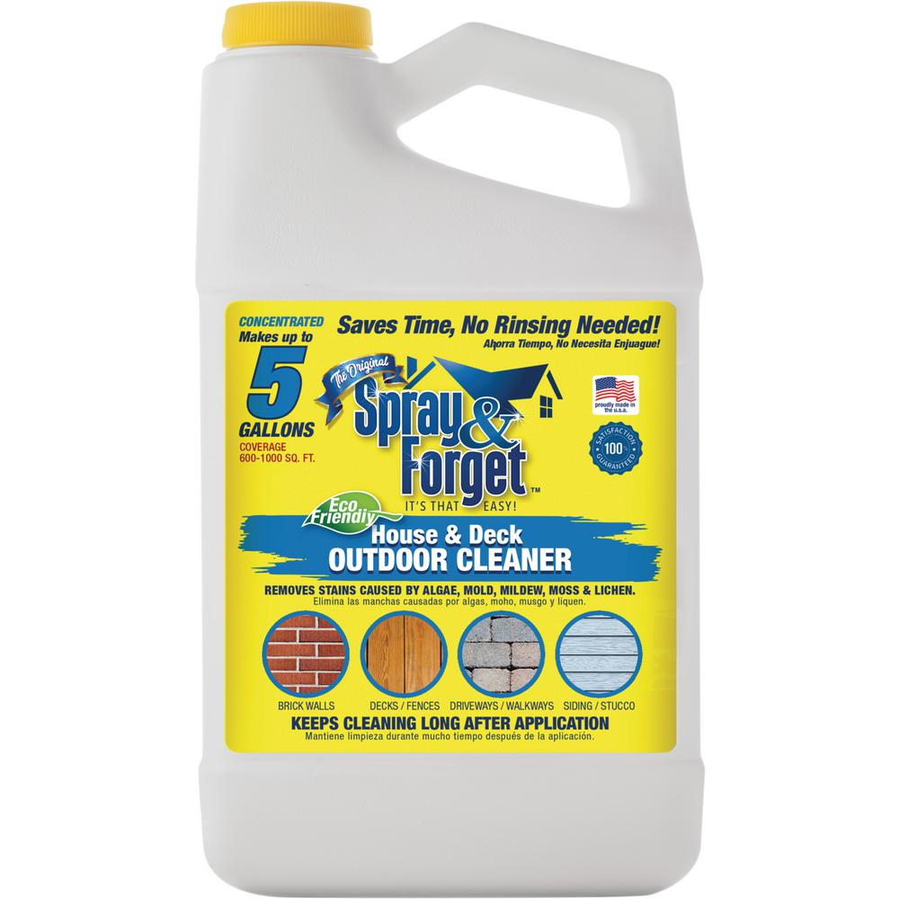64 Oz House And Deck Cleaner Outdoor Mold Remover Concentrate Bottle Sfhd64oz The Home Depot