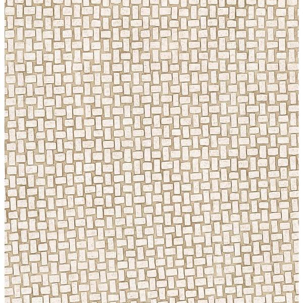 Brewster 8 in. x 10 in. Byzantine Taupe Small Tile Wallpaper