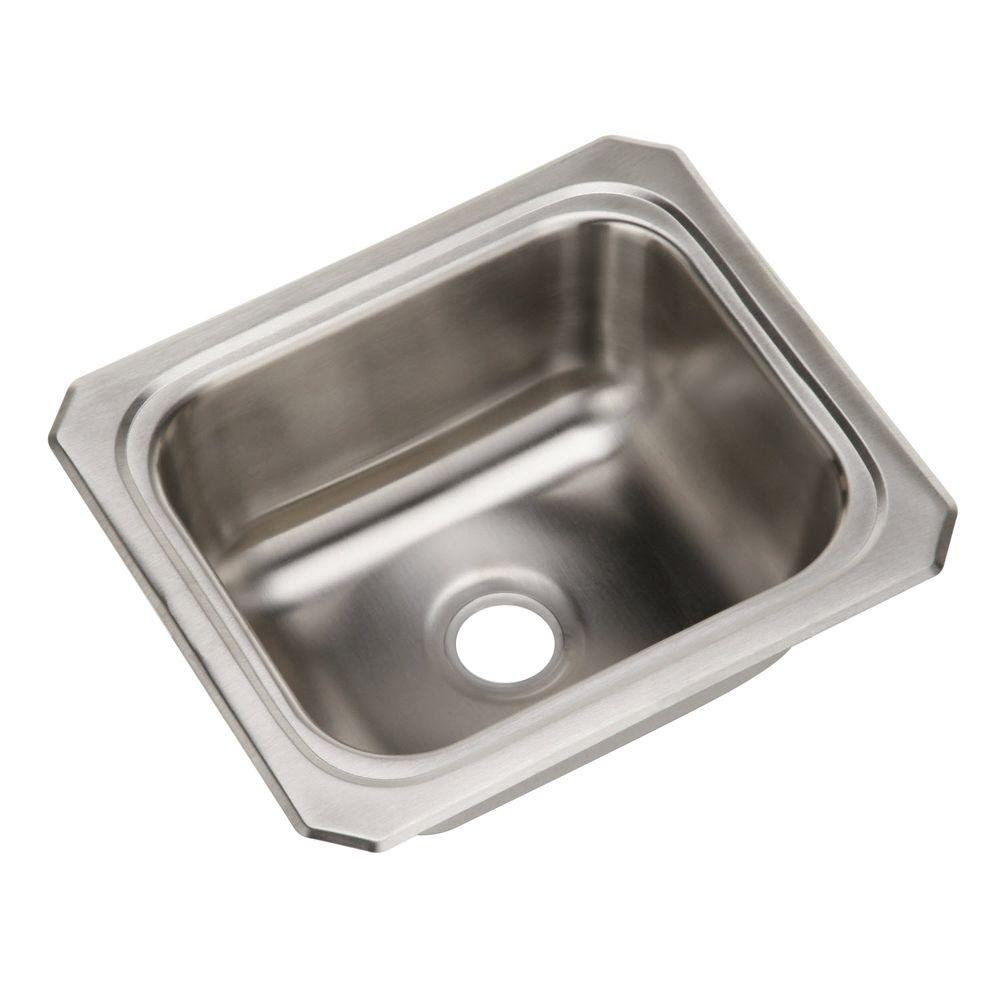 Elkay Celebrity Drop In Stainless Steel 13 In. Bar Sink BCFR1315   The Home  Depot