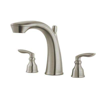 Avalon 2-Handle Deck-Mount Roman Tub Faucet Trim Kit in Brushed Nickel (Valve Not Included)