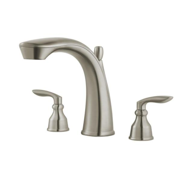 Pfister Avalon 2-Handle Deck-Mount Roman Tub Faucet Trim Kit in Brushed Nickel (Valve Not Included)