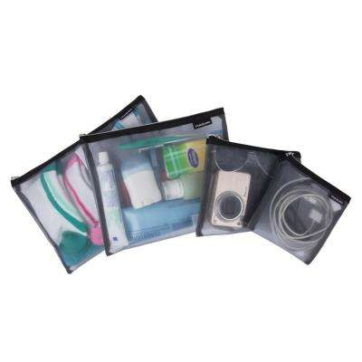 Gray Mesh Pouches (Set of 4)