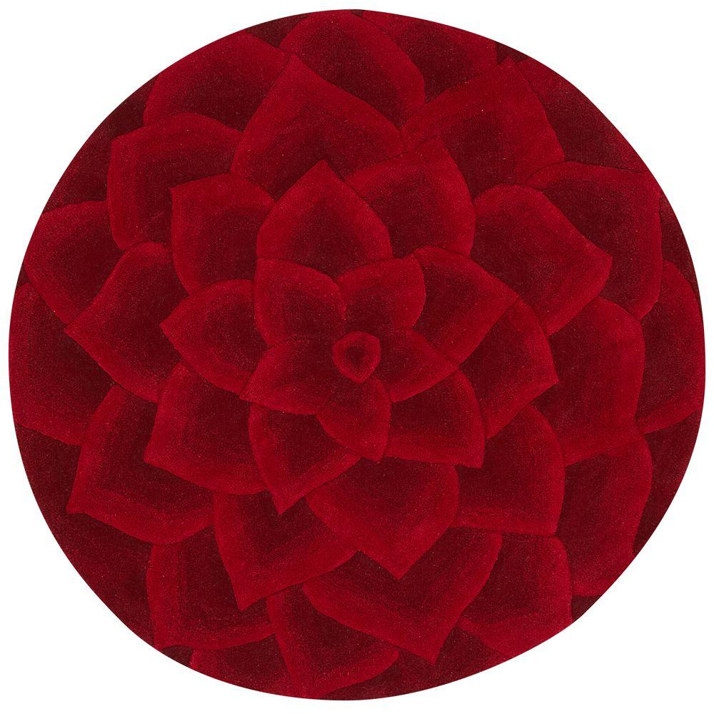 Home Decorators Collection Corolla Red 7 ft. 9 in. Round Area Rug