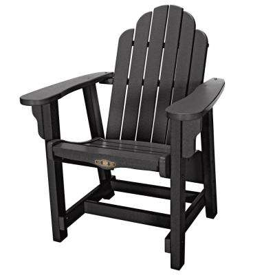DuraWood Essentials Outdoor Plastic Adirondack Chair in Black