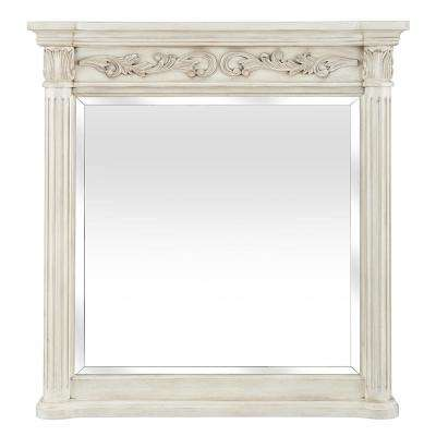 Estates 36 in. x 38 in. Wall Mirror in Antique White