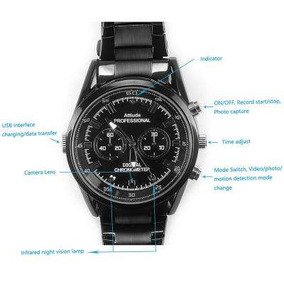 Wrist Watch Camera with Hidden Built-in Covert Camera
