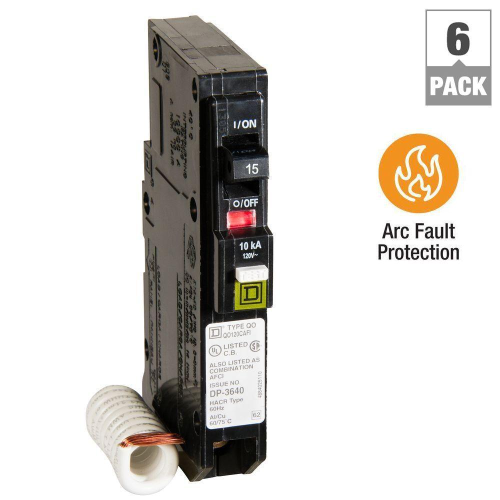QO 15 Amp Single-Pole CAFCI Circuit Breaker (6-Pack)