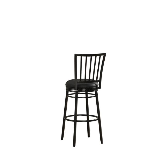 American Heritage Easton 26 in. Black Cushioned Bar Stool 111110